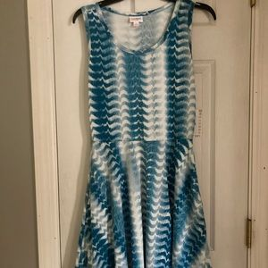 Lularoe tie dyed Nicki dress NWT